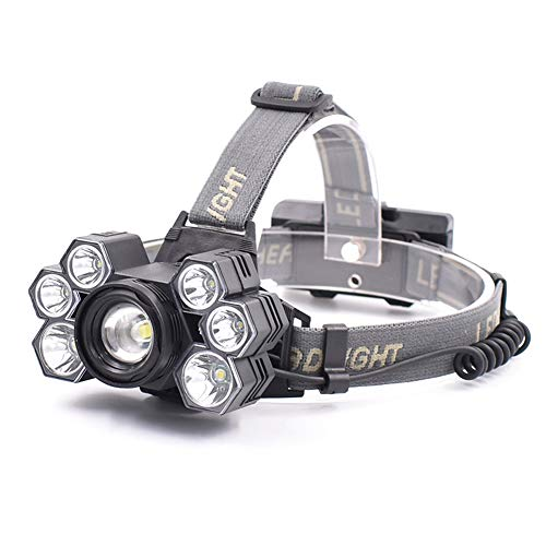 LGPNB Für Campingjagd Head Headlight LED Scheinwerfer super helle erweiterte USB aufladbare Scheinwerfer, 5 Modus komfortable Scheinwerfer, Leistungsstarke Strahl für Kinder Erwachsene