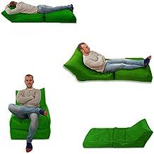 Puff cama silla verde de interior y al aire libre asiento de juego Extra grande XXXL
