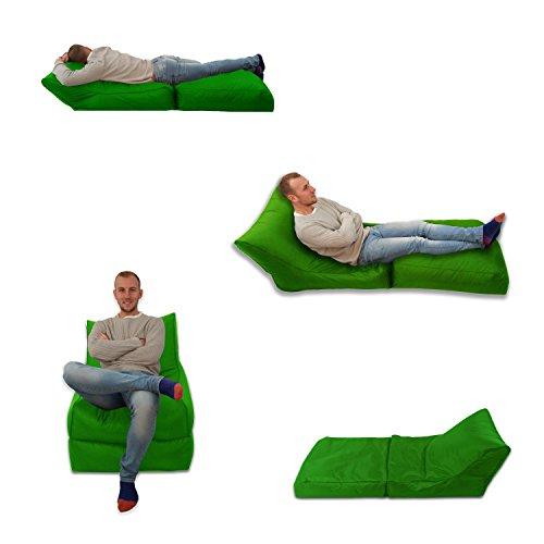 Sitzsack/Sessel, Limettengrün, für Innen und Außen, Extra groß, Gaming-Sitz, XXXL, wetterfest, wasserdicht)