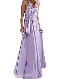 Lover-Beauty Vestido Largo Mujer para Noche y Fiesta Casual Algodón Ropa  Top Falda Espalada 6b536e8d1a9c