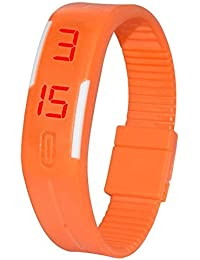 Styllent Presents Orange Color Unisex Silicone Digital LED Band Wrist Watch For Boys, Girls, Men, Women