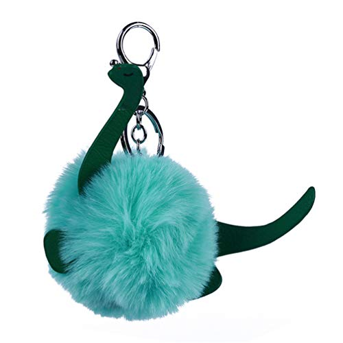 Schlüsselanhänger Cartoon Imitation flauschig Haarball Spielzeug Auto Schlüsselring Tasche hängende Ornamente - grün ()