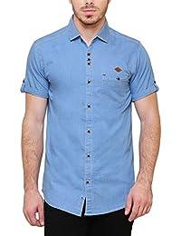 Kuons Avenue Men's Half Sleeve Denim Shirt
