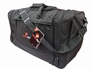 Travel Holdalls, Hand Luggage 24 inch by Hi Tec, Gym and Sports Bag 9186 Black