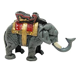 Design Toscano Circus Elephant Collectors Die Cast Iron Mechanical Coin Bank