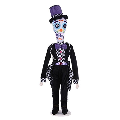 Seawang Halloween Hochzeit Schädel Tuch Puppen Spielzeug Desktop Ornament Party Trick Requisiten bridegroom