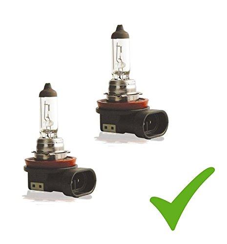 Preisvergleich Produktbild PRAKTISCHES DOPPELSET! (Grundpreis: 5 EUR/Stk) 2 x H11 12V 55W PGJ19-2 Glühlampe Glühbirne Scheinwerfer-Lampe Halogen-Lampe Auto-Lampe