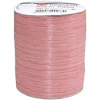 Präsent - Carrete de rafia de rayón (100 m), color rosa