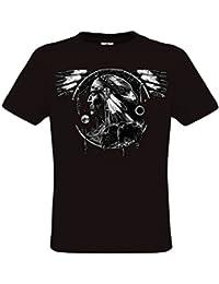 Ethno Designs Hawk Dream Spirit - T-Shirt Indiens d'Amérique du Nord pour Hommes