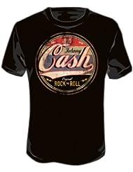 JOHNNY CASH - LOGO NEU - Schwarz - T-shirt -