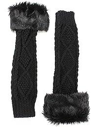 Strickwolle Armstulpen Pulswärmer Handschuhe fingerlos Stulpen Damenhandschuhe Winterhandschuhe