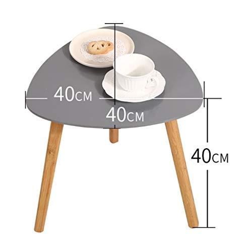 M-JH Table d'appoint, Table Basse en Bois Massif de Table Basse de Table d'appoint de canapé de Triangle de Table Basse de Table pour Le Salon, Bureau (Couleur : Gray, Taille : 40CM)