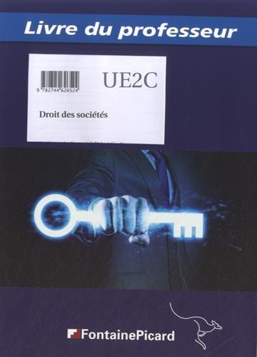 Droits des sociétés DCG UE2C : Livre du professeur