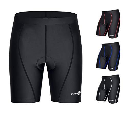 CYCLEHERO Fahrradhose kurz einfach: Gepolsterte Fahrradhose Fahrrad Hose Radlerhose (schwarz, XL) -