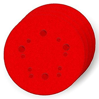 5 in. 60-Grit Universal Hole Random Orbital Sanding Disc with Hook and Lock Backing (4-Pack) by Freud ()