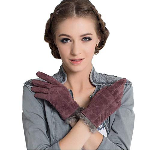(Neue Damen Lange Fingerlose Handschuhe Blumen Wärmen Parteien Arm Herbst Und Sets Winter Unikat Style Blue Fäustlinge (Color : Brown, Size : One Size))