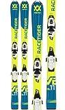 Völkl Racetiger JR Yellow/Motion Skiset 70-90 cm `19 Länge 80, Montage Montage nach Sohlenlänge