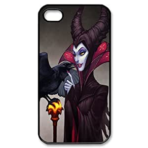 Top Case Disney Cartoon Sleeping Beauty Maleficent Angelina Jolie Iphone 4 4S Hard Protective Case