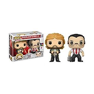 FunKo - Figurine - WWE - Bi-Pack Million Dollar Man Ted DiBiase & I.R.S Exclusive Pop 10cm - 0889698203326