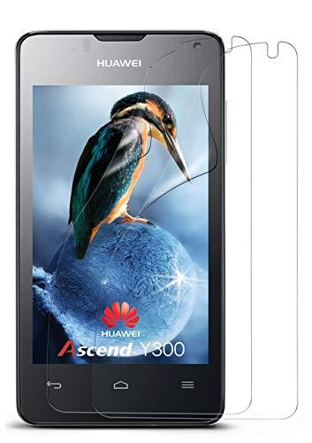 moex 2X Huawei Ascend Y300 | Schutzfolie Klar Bildschirm Schutz [Crystal-Clear] Screen Protector Display Handy-Folie Dünn Bildschirmschutz-Folie für Huawei Y300 Bildschirmfolie