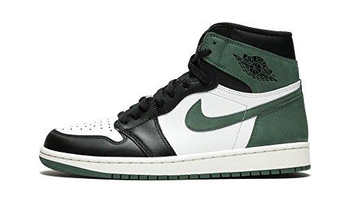 Nike Air Jordan 1 Retro High Og - summit white/clay green-black - Basketball-Schuhe-Herren, Größe:13 -