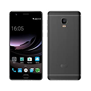 Elephone P8 Max Unlocked 4G Smart Phone 5.5-Inch FHD Screen Android 7.0 MT6750T Octa-core 4GB+64GB Back Camera 13MP Front Camera 16MP 5000mAh Fingerprint Mobile Phone (Black)