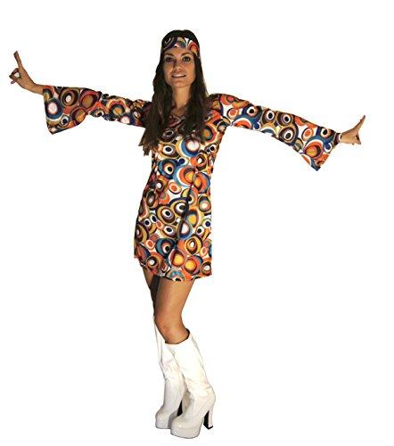 22 Größe Kostüm Krankenschwester - 60s 70s Swirl Hippy Retro Gogo Abendkleid Größe 3XL (Frauen: 20-22)