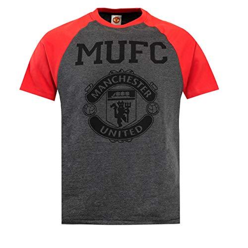 Pigiama lungo da uomo con logo ufficiale del Manchester United Football Club