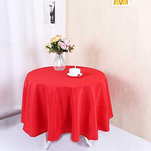Zdada Tischdecke mit Pailletten, für Weihnachten, Hochzeit, glitzernd, rot, R-90 inch
