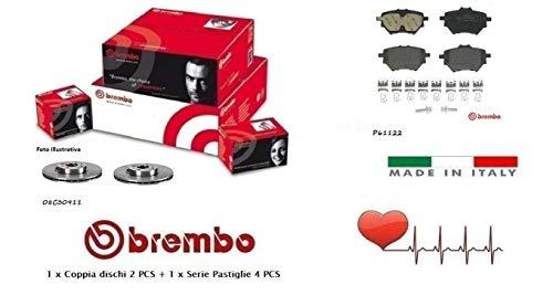 Dischi 290 mm + Pastiglie Freno Posteriori Brembo