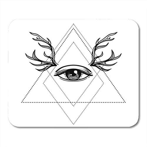 Gaming Mauspad All Seeing Eye Symbol Blackwork Tattoo Design Sacred Geometry Third 11.8