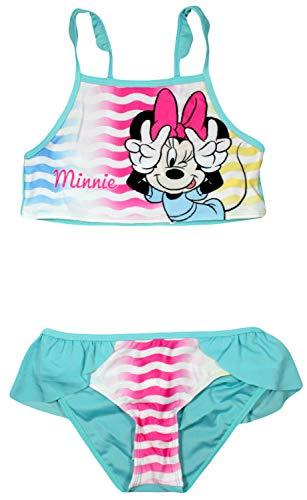 Disney Minnie Mouse Mädchen Schwimmen Bikini (4/5 Jahre (104/110 cm), Blau)