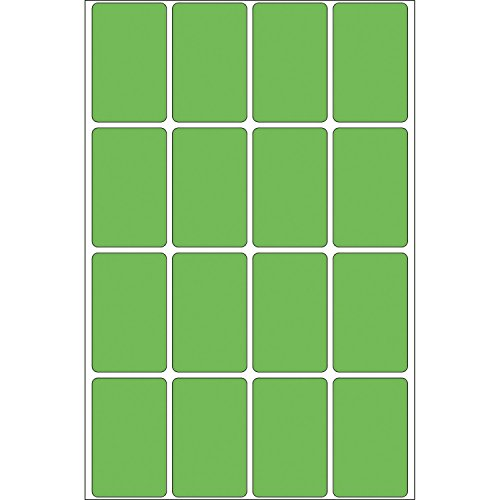 Herma 2455 - Etiquetas multiuso, 25x40 mm, papel mate, 512 unidades, color verde