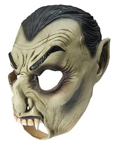 Maske Nosferatu Kostüm - Horror-Shop Vampir Latexmaske für schnelle Halloween Verkleidungen