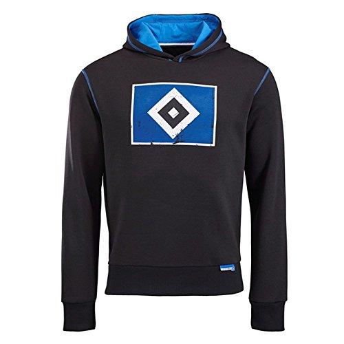 Hamburger SV Hoody Raute schwarz (M)