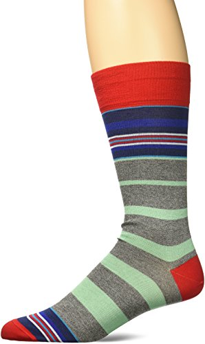 BUGATCHI Men's Davino Fashion Sock, Ruby, Sock Size:10-13/Shoe Size: 6-12