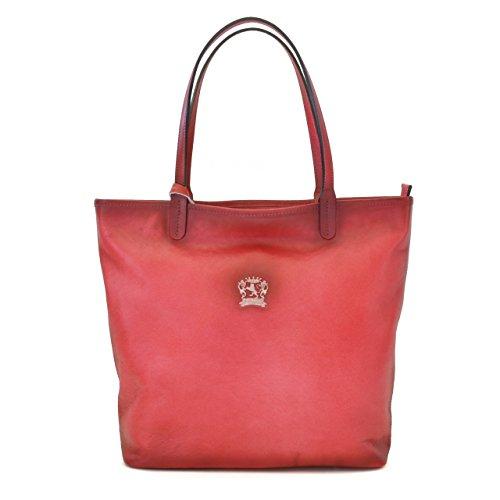 Pratesi Monterchi borsa in vera pelle - B461 Bruce (Blu Elettrico) Rosa