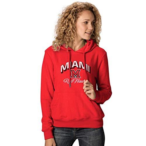 NCAA Damen Premium Campus Classic Goodie Hoodie - mehrere Teams, Größen, Damen, Miami Redhawks - Red, Womens Extra Large Red Womens Hoodie
