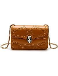 febaf3711435b Fishbag Umhängetasche Kleine Handtasche Tasche Leder Damen Abendtasche Schicke  Taschen mit Kettenhenkel Clutches Glitzer Mode…