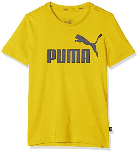 PUMA Jungen ESS Logo B T-shirt ESS Logo Tee B-852542, Sulphur, 164 (Herstellergröße: 14 ans)