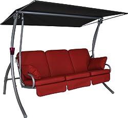Hollywoodschaukel mit liegefunktion 4 sitzer  Miami - Hollywoodschaukel 4-Sitzer - Testberichte von Kunden