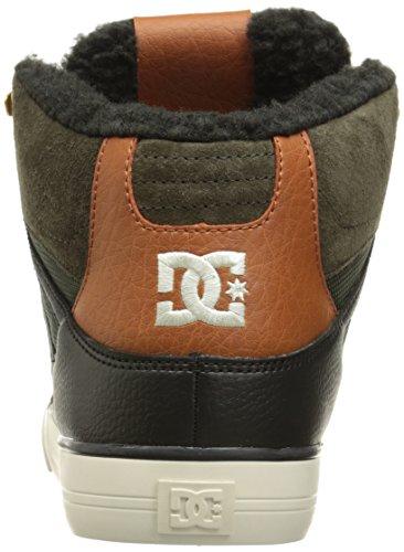 DC Skateboard Shoes SPARTAN HIGH WC WHEAT/DARK CHOCOLATE Military