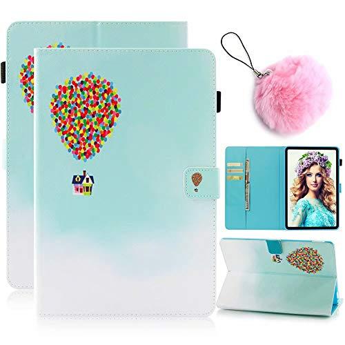 lle Samsung Galaxy Tab E 9.6 T560/T561 Tablet Tasche Flip Case Schutzhülle Standfunktion Kreditkarte Kratzfeste Schutz Schale Abdeckung + Pom Pom Ball, Ballon ()