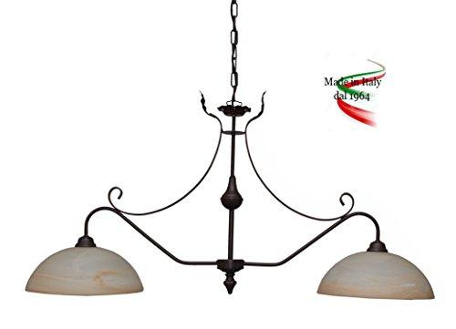 valfb24112al SP2Rudy Made in Italy Wippe Pendelleuchte in Schmiedeeisen Glas Alabaster Bernstein Produkt von Valastro Beleuchtung - Bernstein Metall-stehlampe