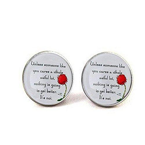 Lorax Truffula Baum 'sofern nicht' Zitat Ohrringe, Einzigartige Ohrringe Geschenk , Everyday Geschenk Ohrringe