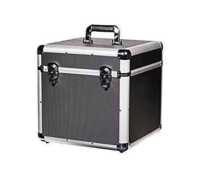JACK & CABLE Vinyl Record Case - holds up to 100 x 12 LP Albums (JC12683)