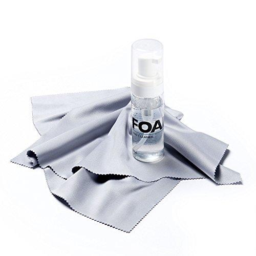 FEFI® - Set: Großes Brillenputztuch/Microfasertuch - 35x35 cm + Reinigungsspray/Schaum/Brillenreiniger - 60ml