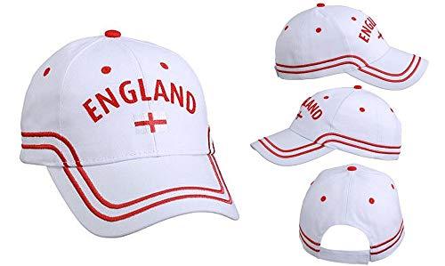 Myrtle Beach Fussball/Football Fan Basecap Cap Mütze - England WM/EM weiß NEU
