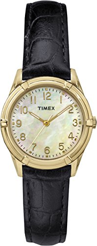 timex-womens-quartz-watch-with-mother-of-pearl-dial-analogue-display-and-black-leather-strap-tw2p762