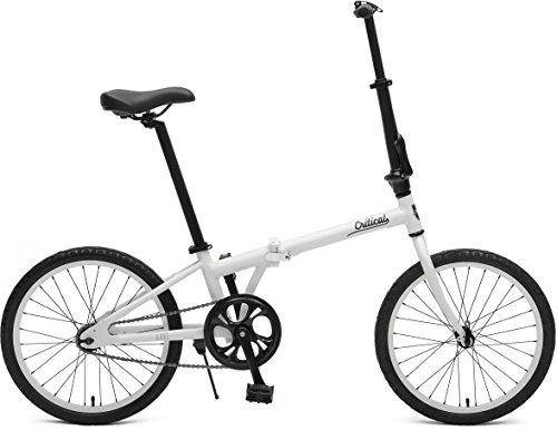 Critical Cycles Uni Judd Single-Speed with Coaster Brake Folding Bike, Matte Eggshell, One Size
